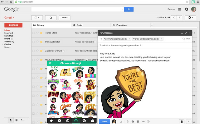 bitmoji chrome