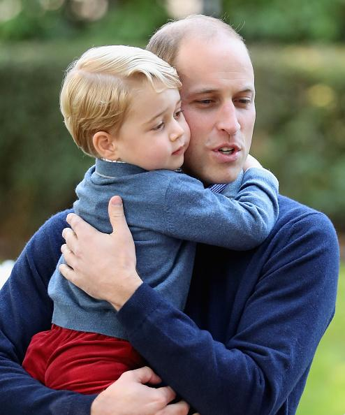 William hands 'nice boy' Prince George's Christmas wichlist to Santa