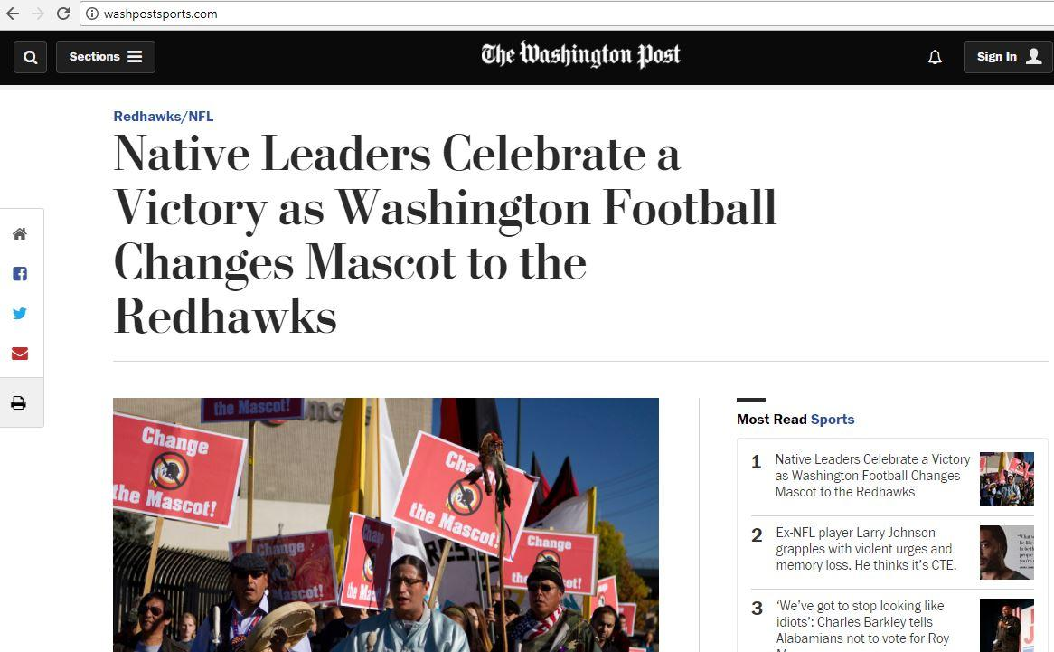 Activist group stages elaborate hoax to announce Washington Redskins changed team name
