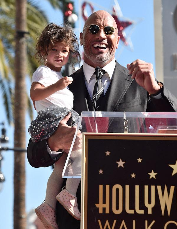 Dwayne Johnson and daughter