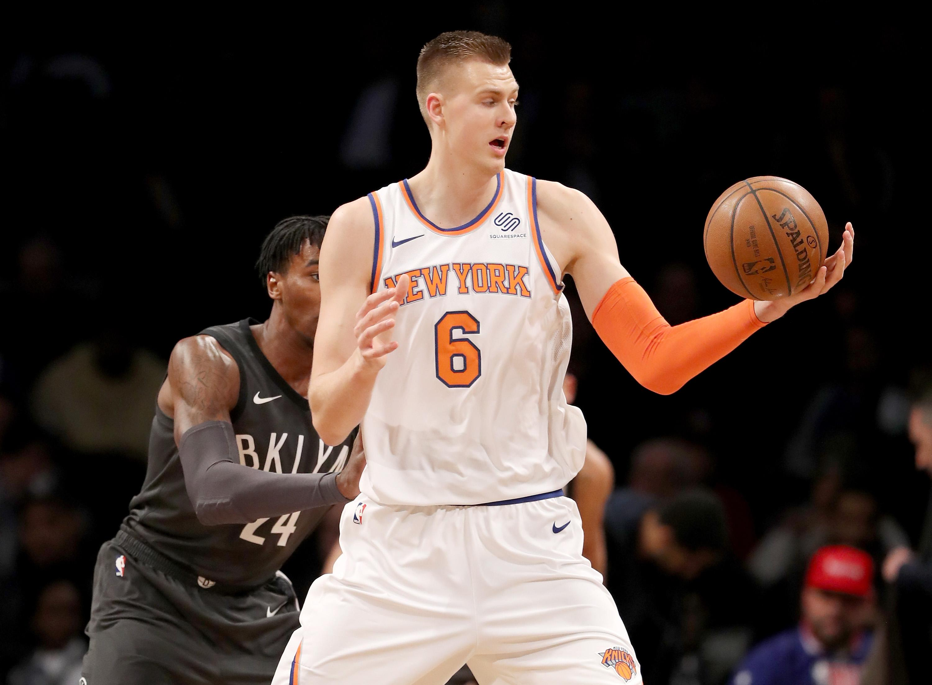 Kristaps Porzingis Out vs. Thunder After Suffering Knee Injury Against Nets