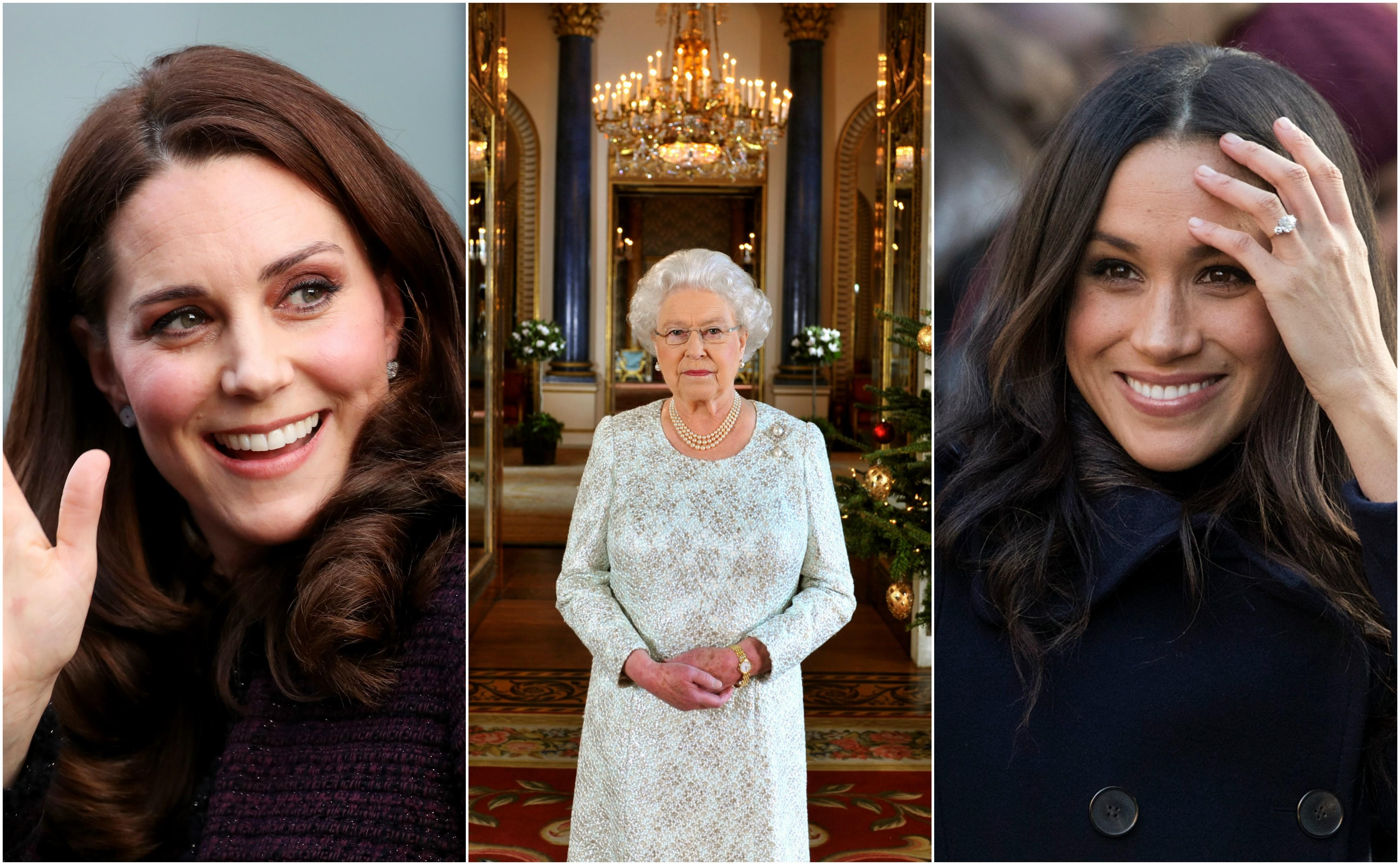 kate, queen and meghan