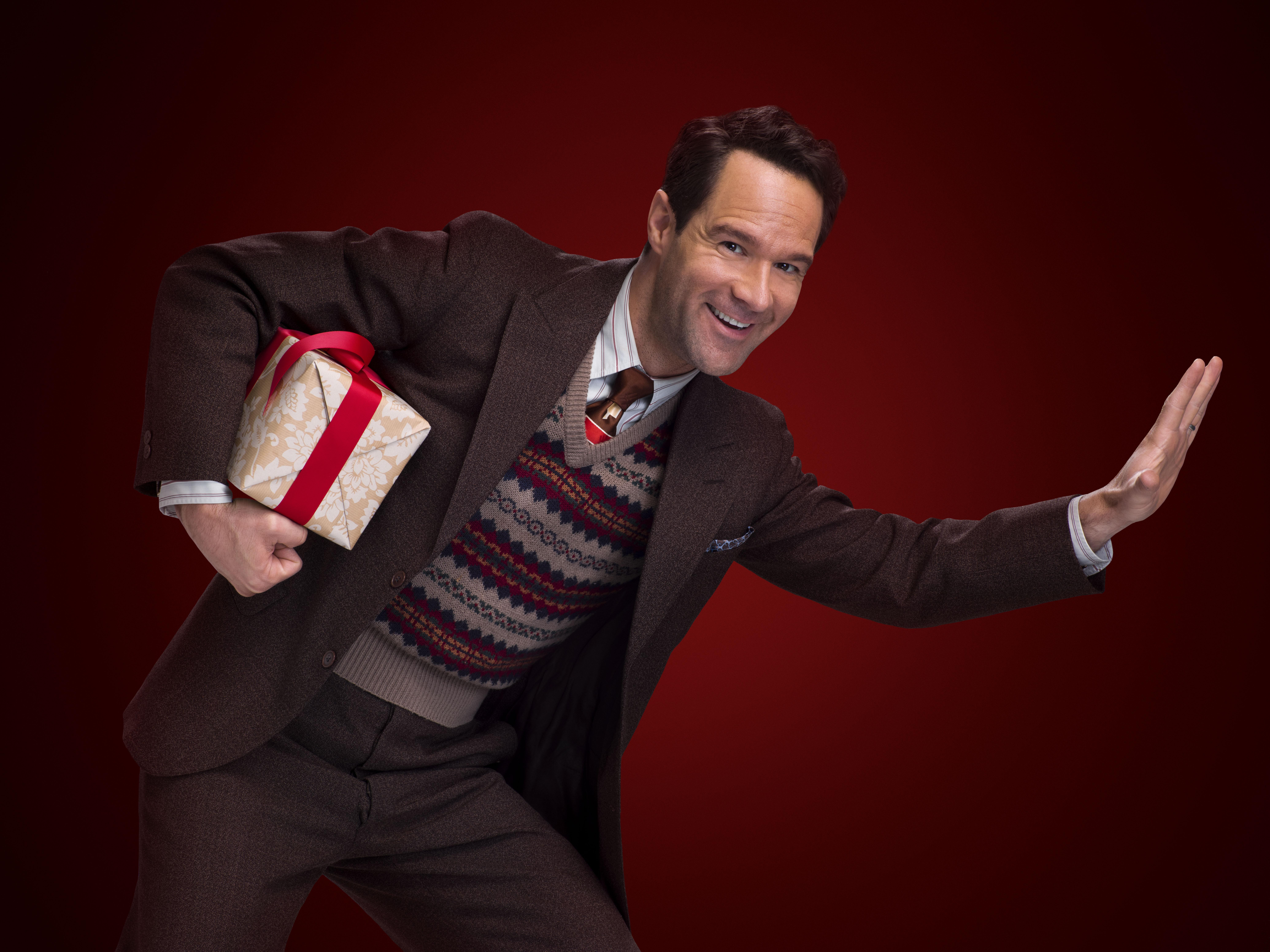 chris diamantopoulos stars as old man parker in a christmas story live photo tommy garciafox