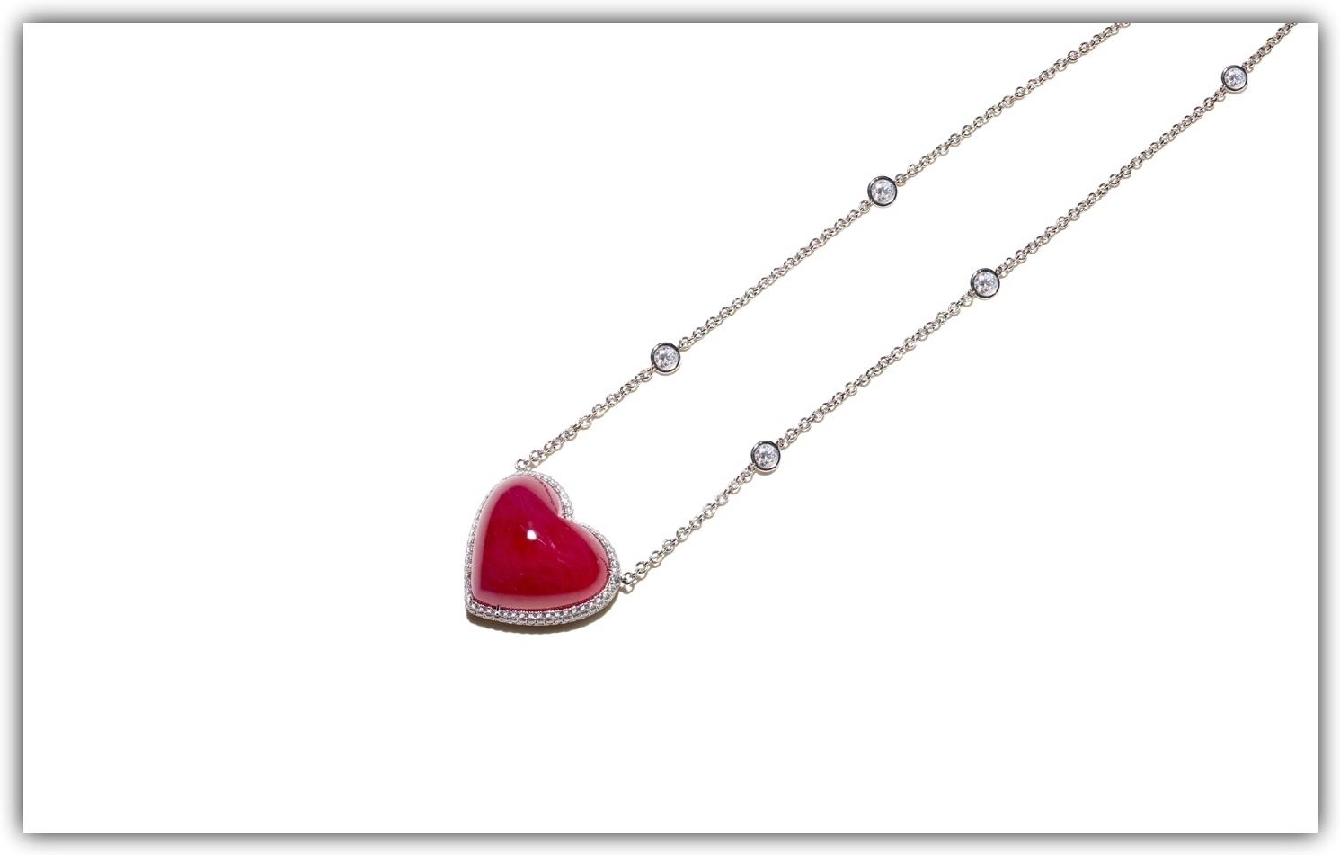 Bayco ruby and diamond pendant