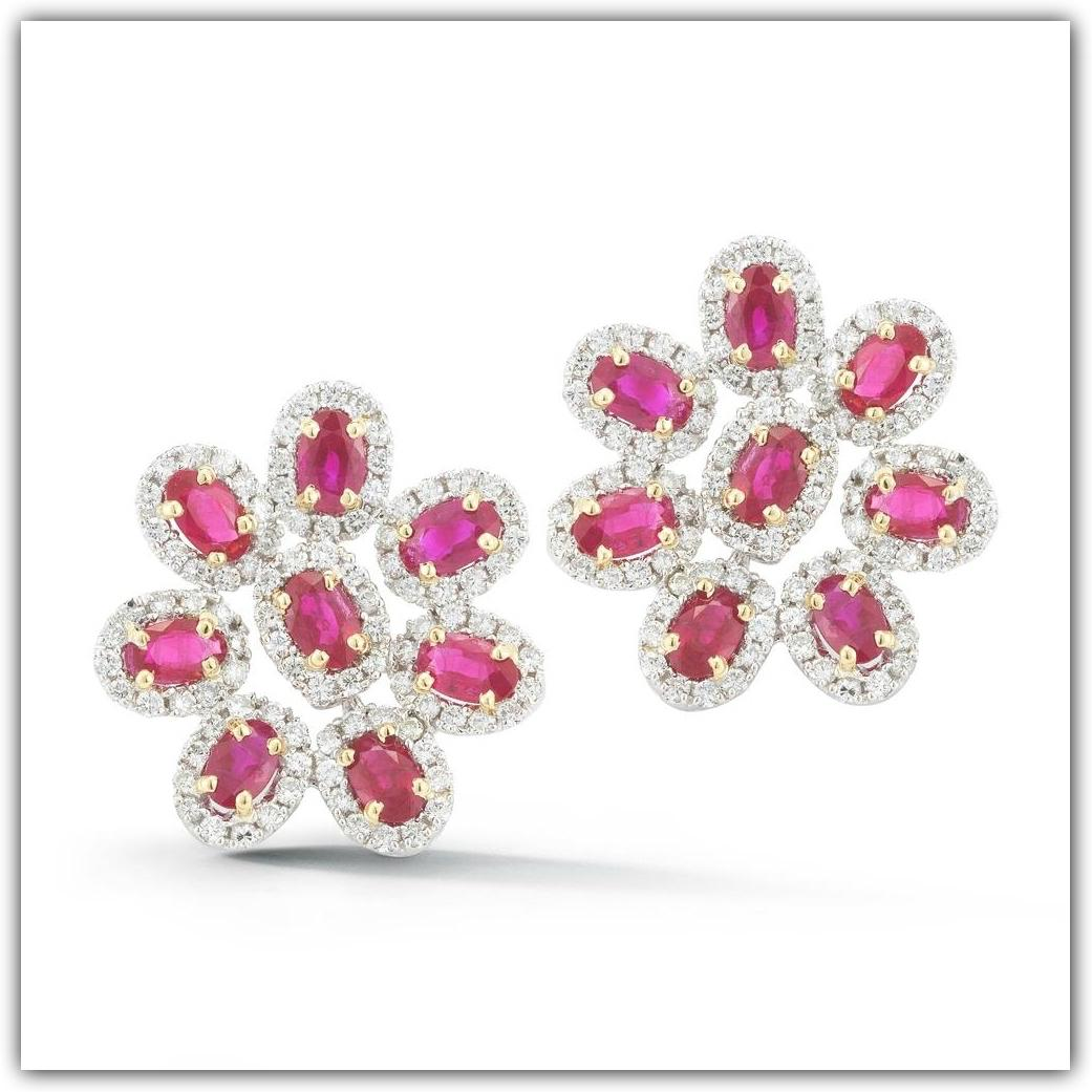 TAKAT ruby and diamond earrings
