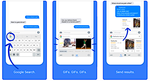 Google adds a dedicated GIF button in its Gboard app for iOS