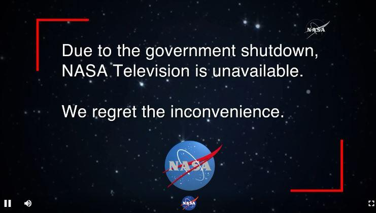nasa tv down gov shutdown