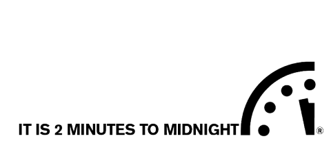 Doomsday Clock is 2 Minutes to Midnight