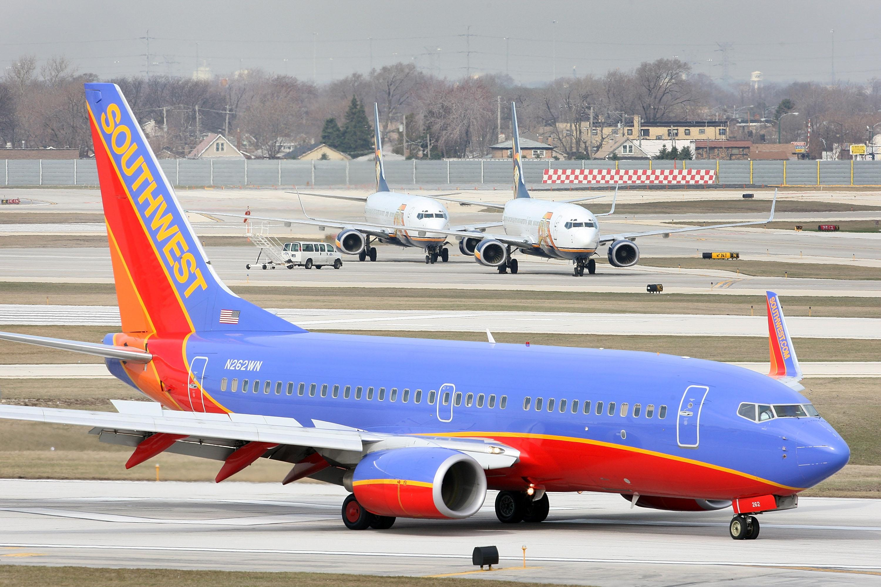Southwest flight leaving Baltimore slides off runway