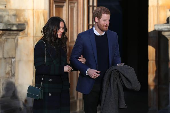 Harry and Meghan charm crowds, and army mascot Cruachan, in Edinburgh
