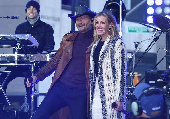 Tim McGraw all smiles in first outing since collapsing onstage