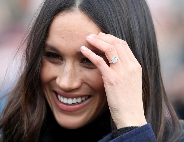 what meghan markle s multi stone engagement ring really says about her. Black Bedroom Furniture Sets. Home Design Ideas