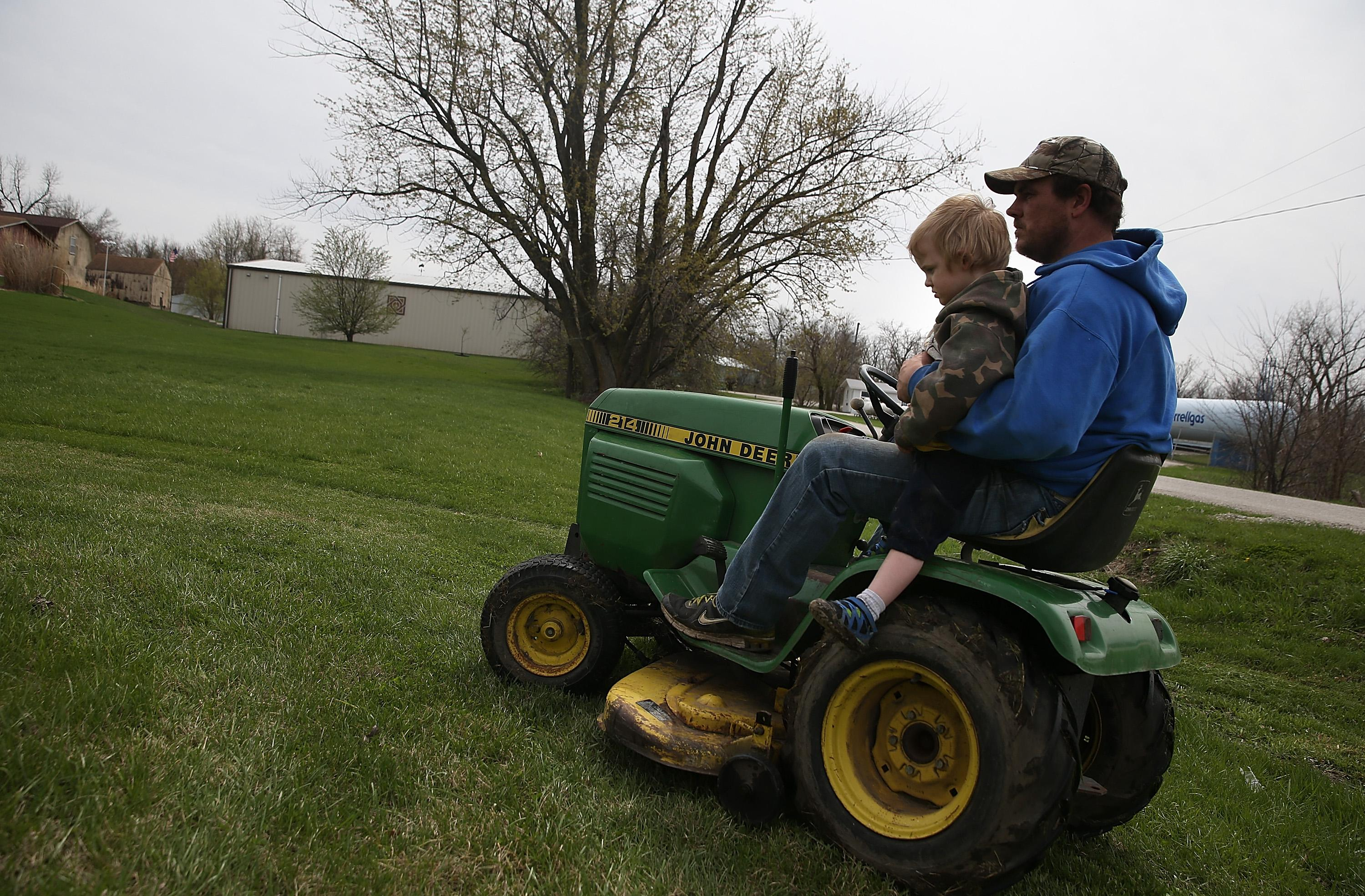 3-year-old boy is hit by a lawn mower