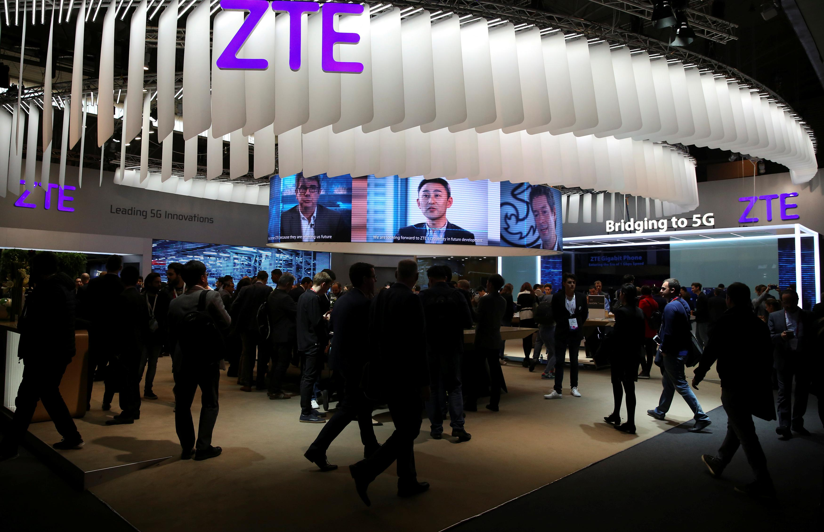 ZTE to cease operations of main business due to U.S.  sanctions