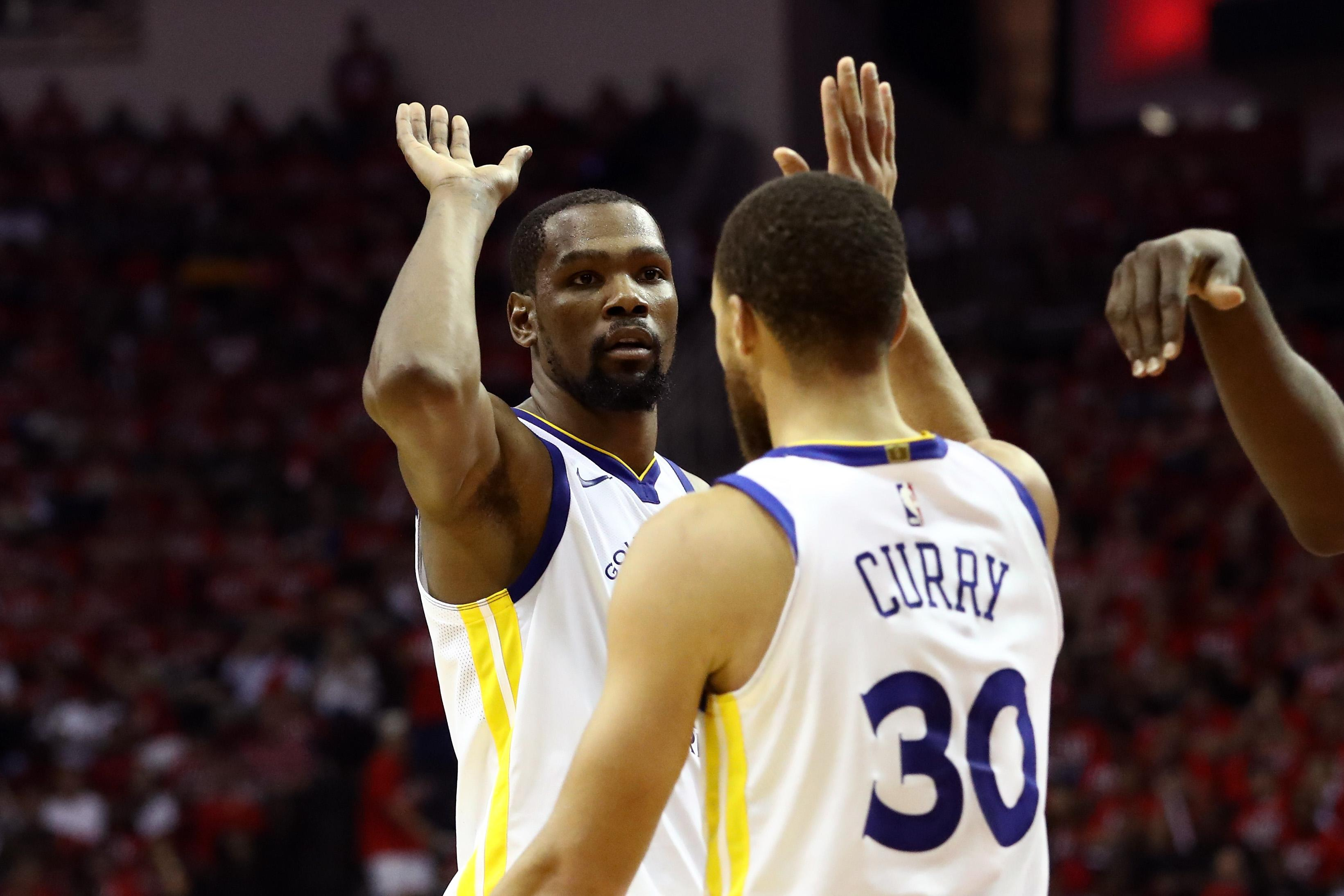 Kevin Durant Stephen Curry Warriors