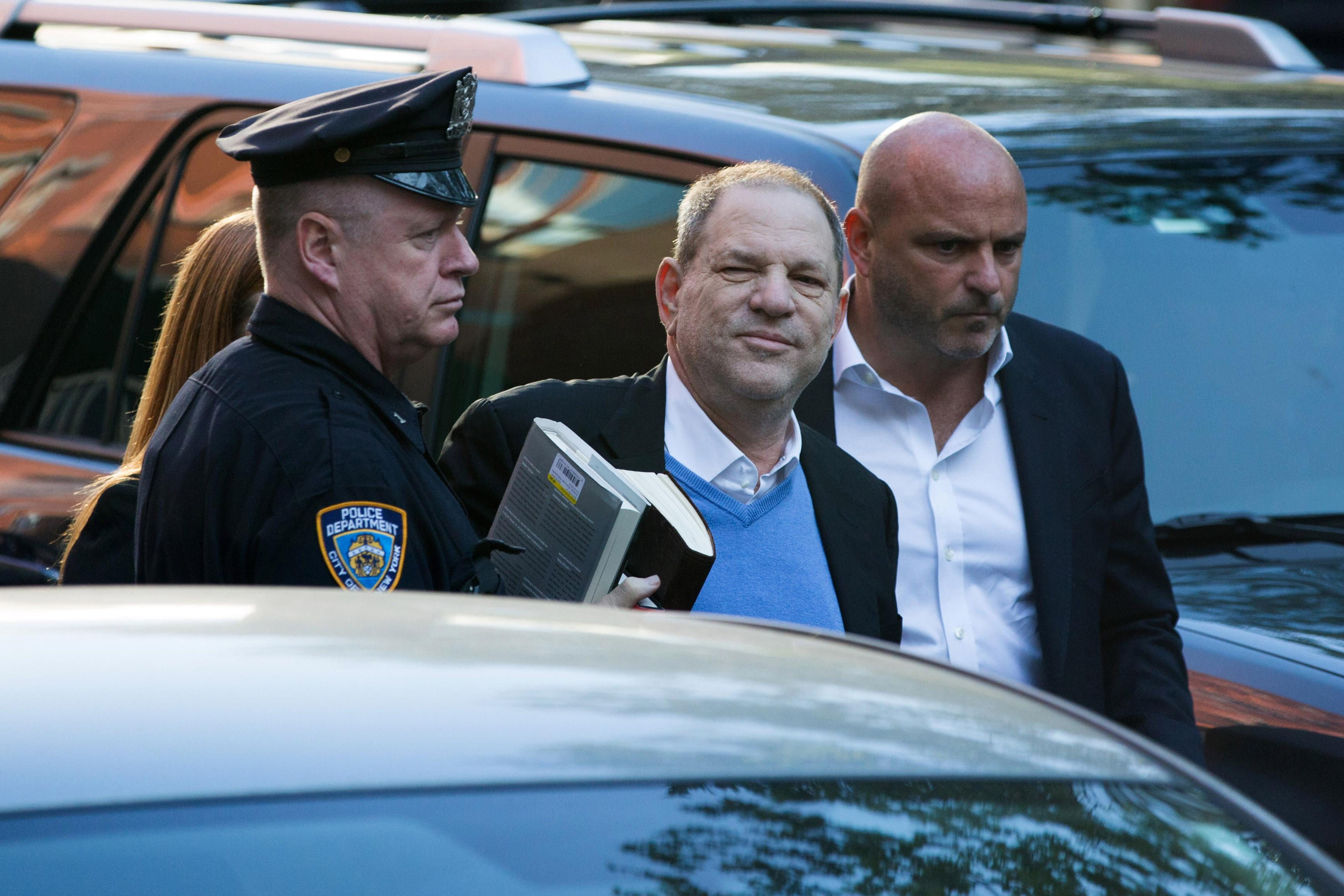 Harvey Weinstein hands himself in to police in NY