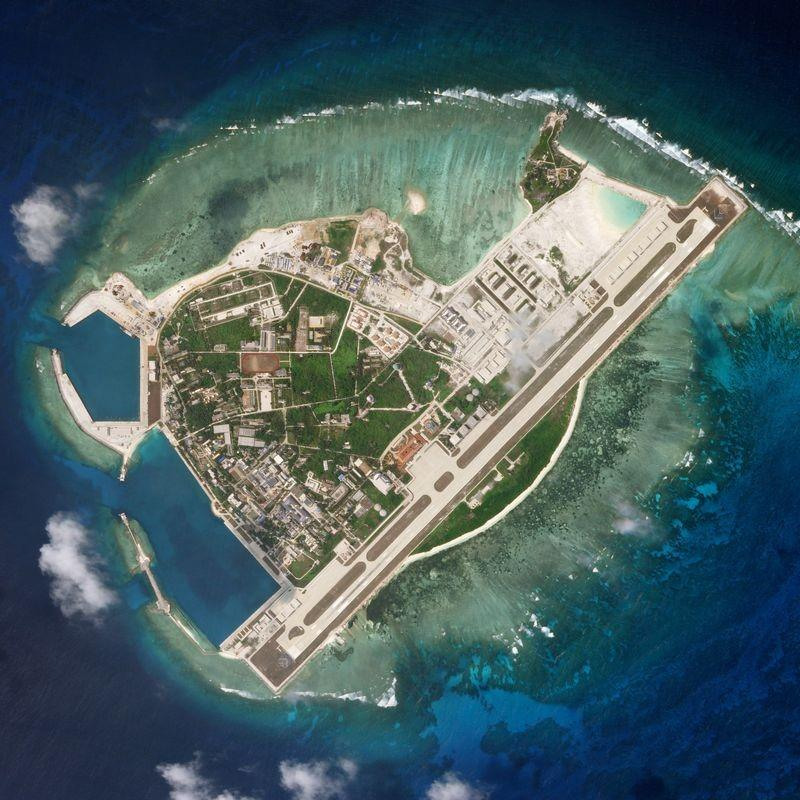 US  warships sail near South China Sea islands claimed by Beijing