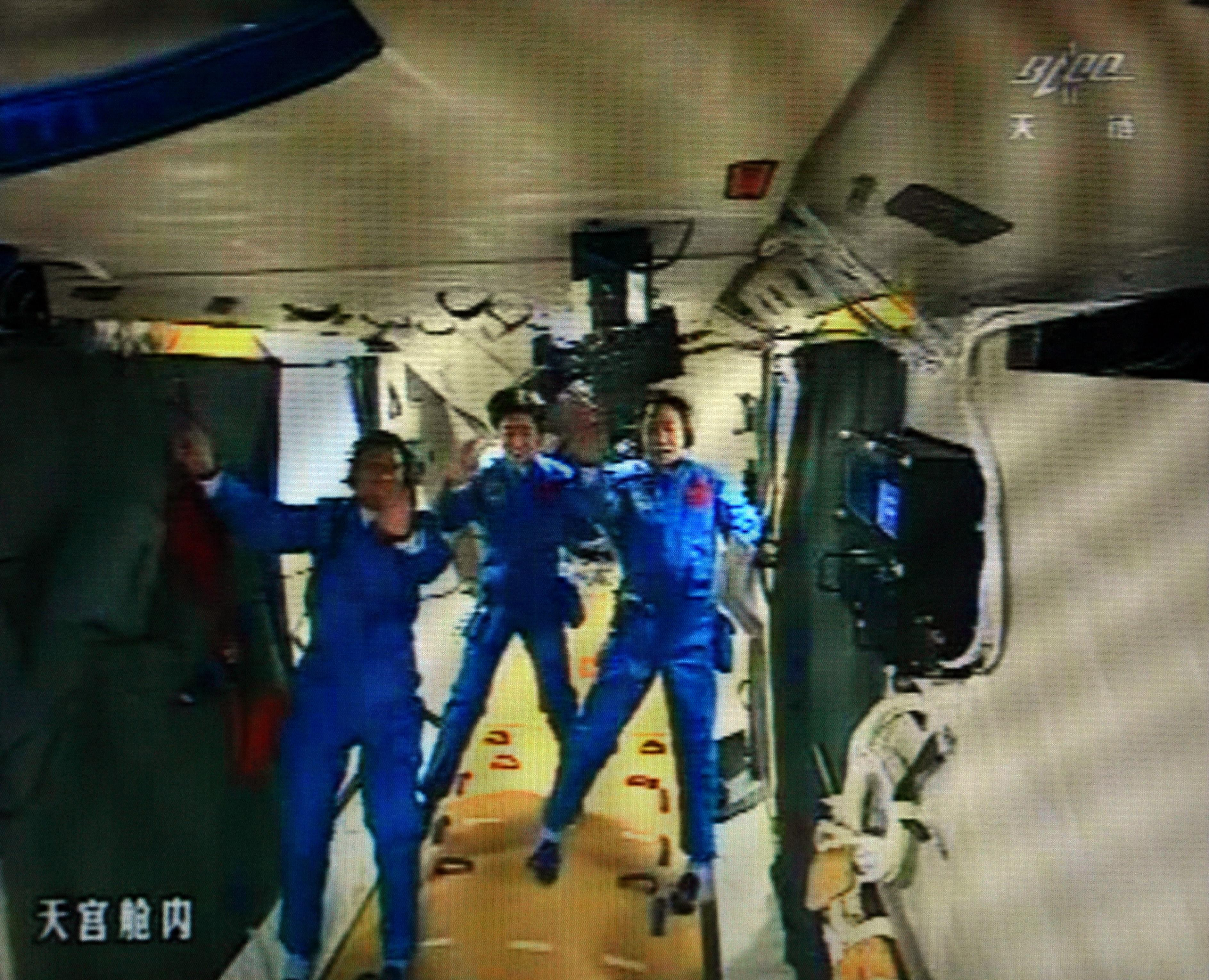 Chinese Astronauts in Tiangong-1
