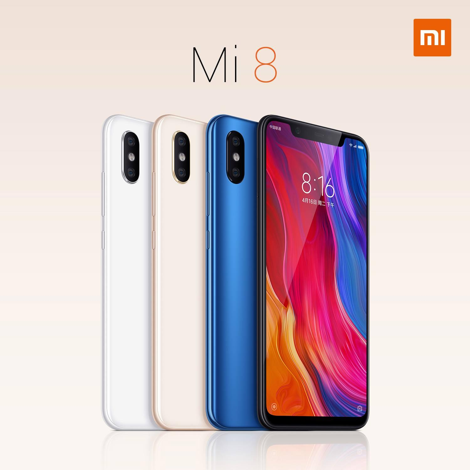 The flagship Xiaomi Mi 8 officially presented