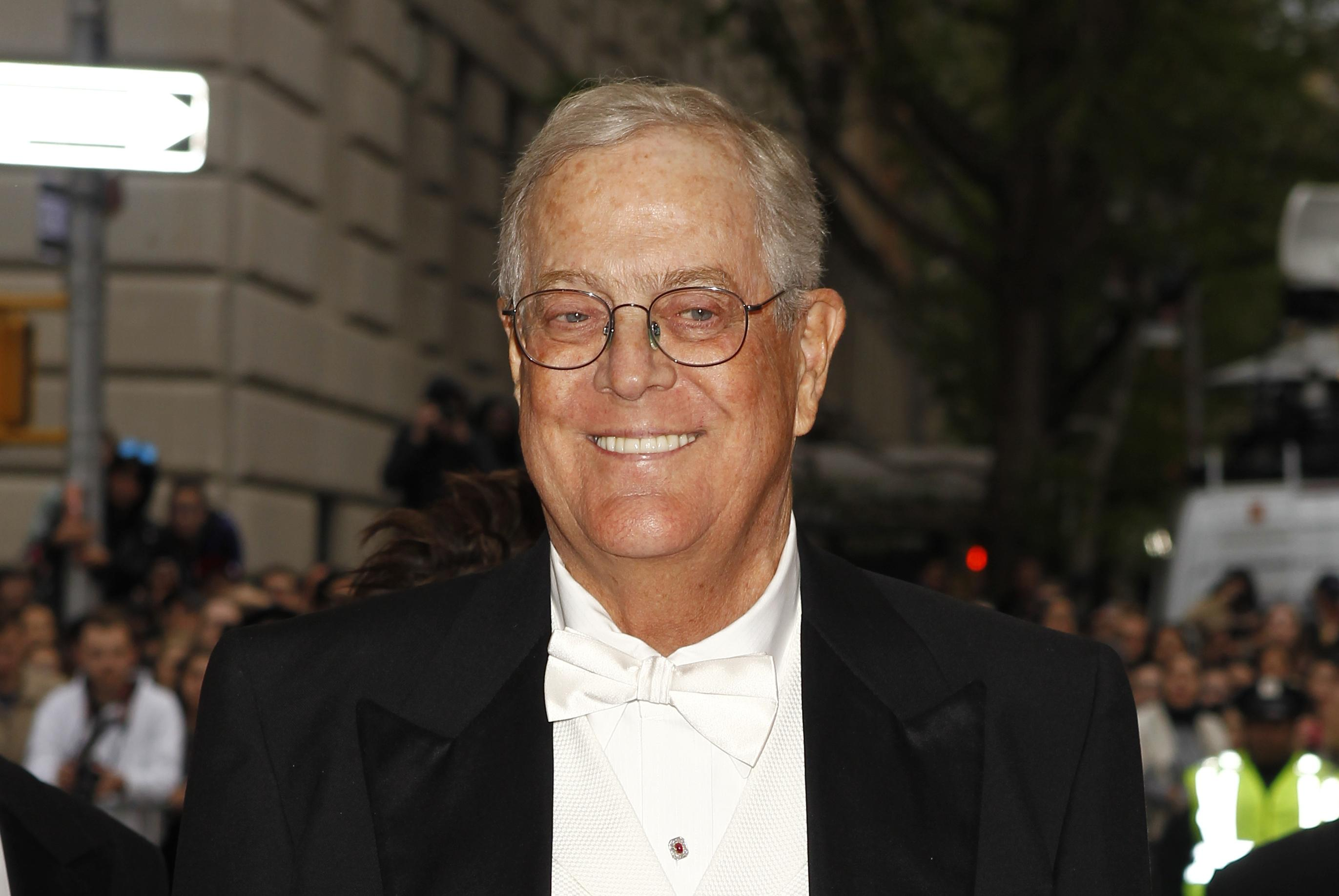 USA  conservative force David Koch retires because of failing health
