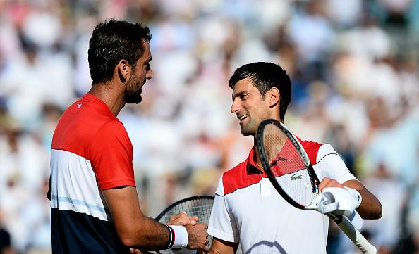 Marin Cilic and Novak Djokovic
