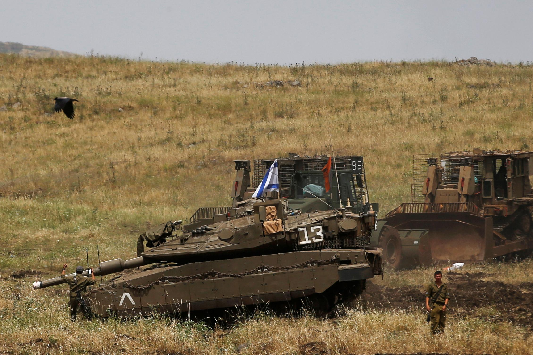 Israel Tanks Golan Heights