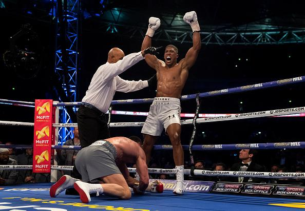 Joshua becomes '4th lion in Wembley den