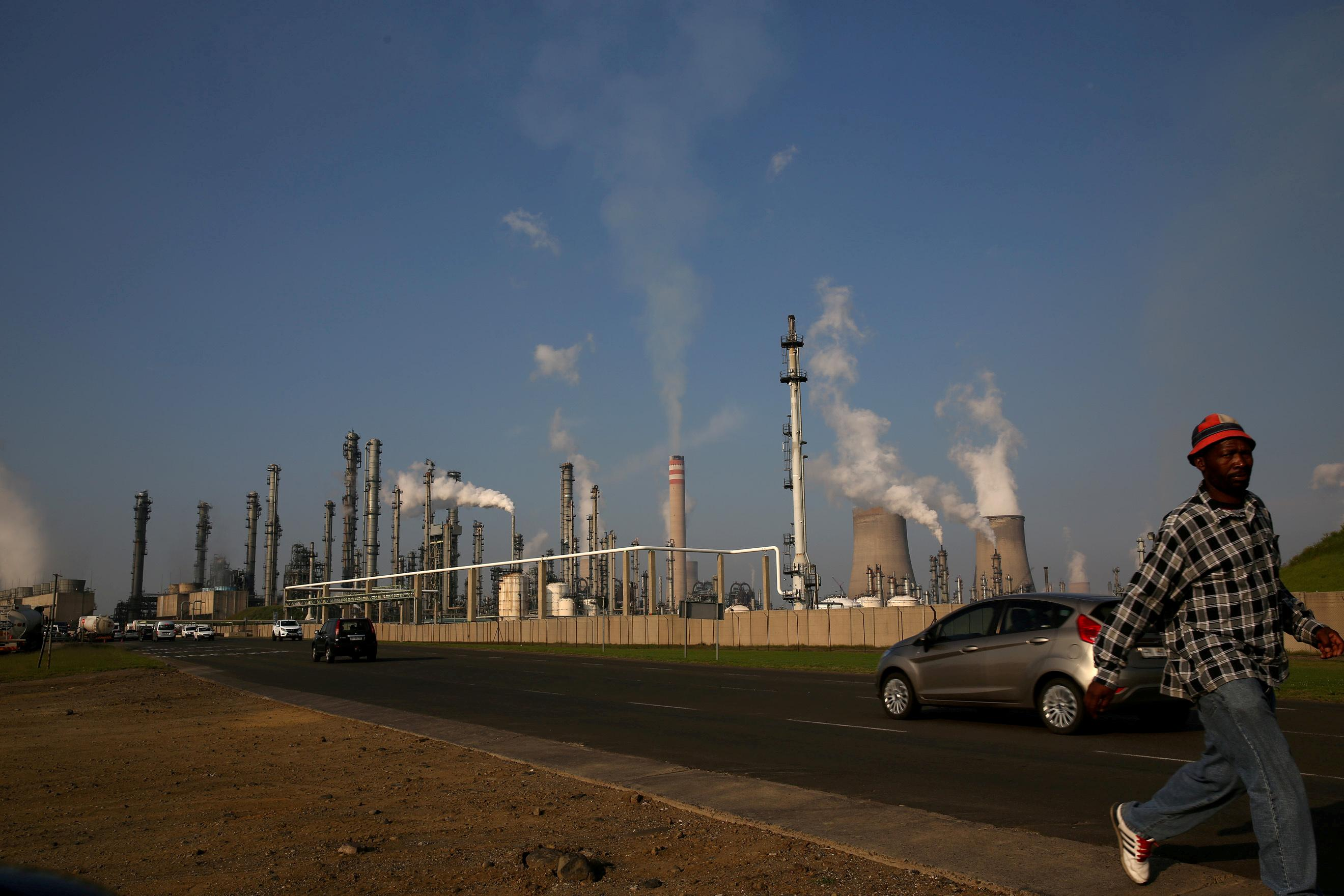 South African petrochemical company Sasol's synthetic fuel plant