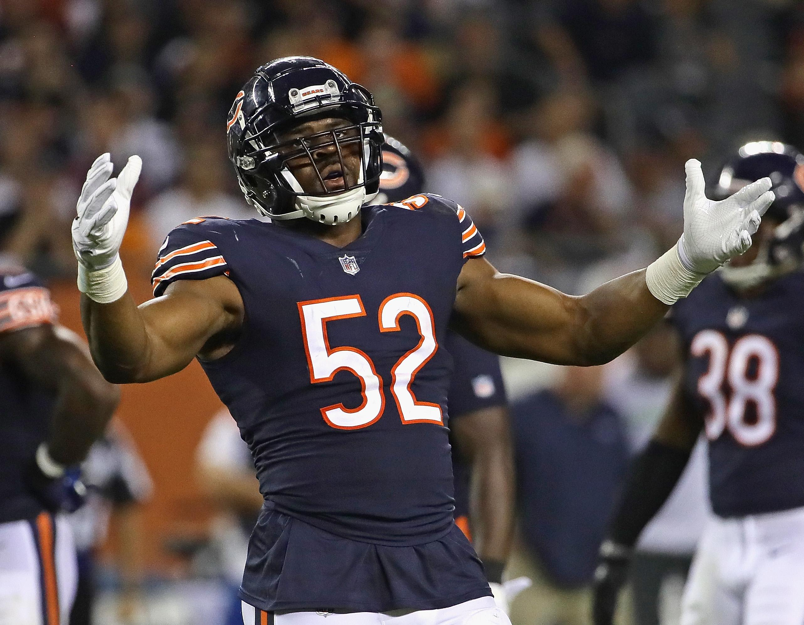 Khalil Mack Chicago Bears Designing Sport: NFL Standings 2018: Rams, Bears, Chiefs, Dolphins Sit
