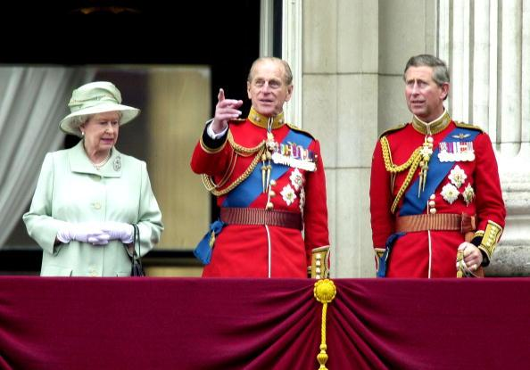 Prince Philip, Prince Charles and Queen Elizabeth II