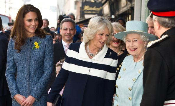 Queen Elizabeth II, Camilla Parker Bowles and Kate Middleton