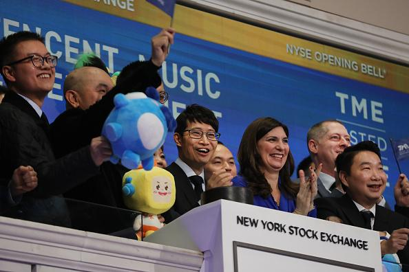 China's Tencent Music jumps 11 percent in US debut