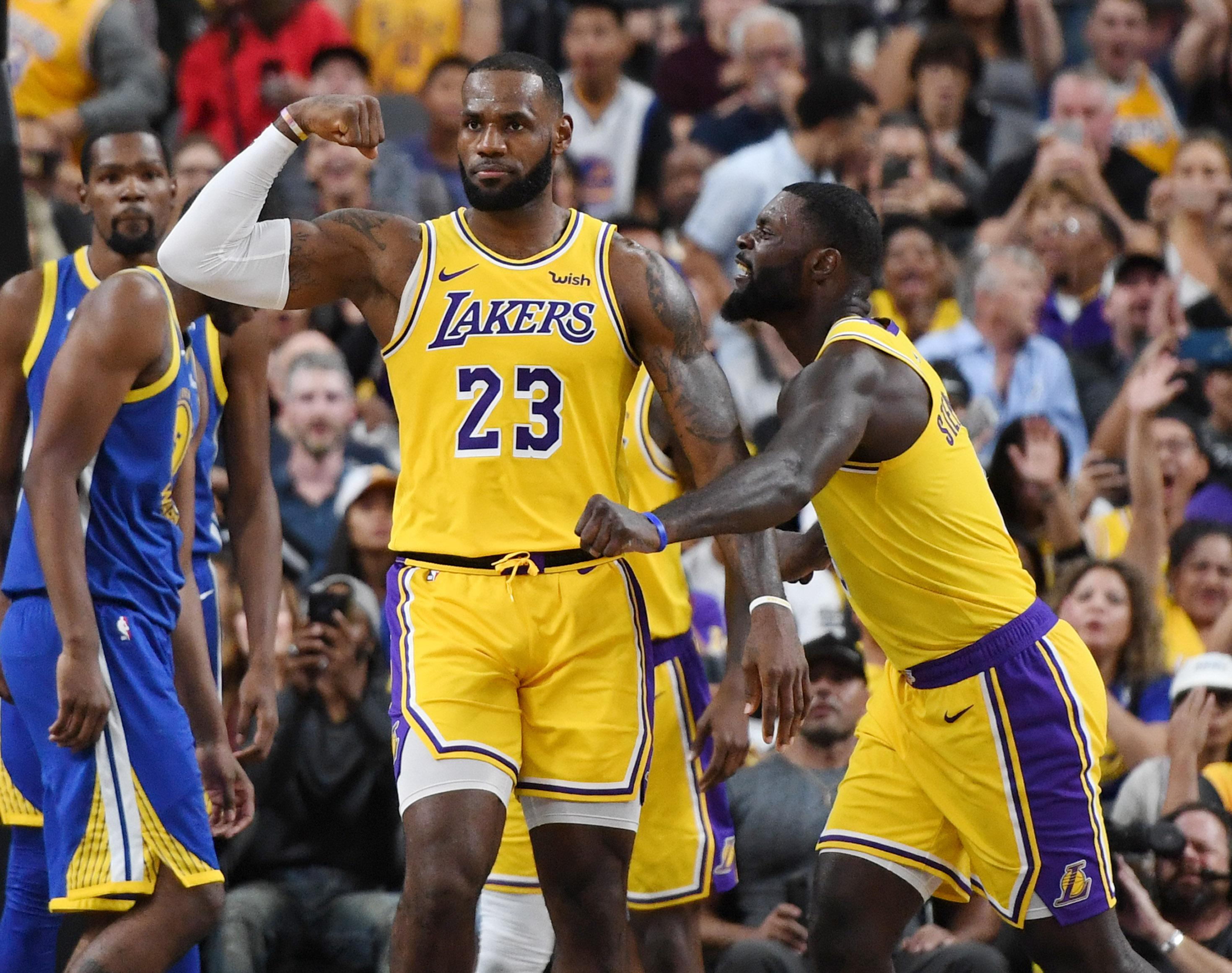 LeBron James Lakers Warriors