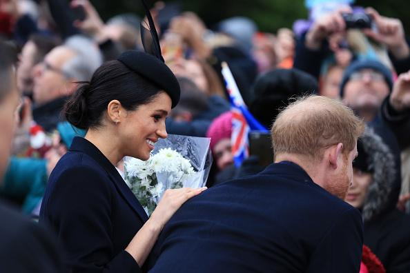 Meghan Markle and Kate Middleton Curtsy to Queen Elizabeth on Christmas