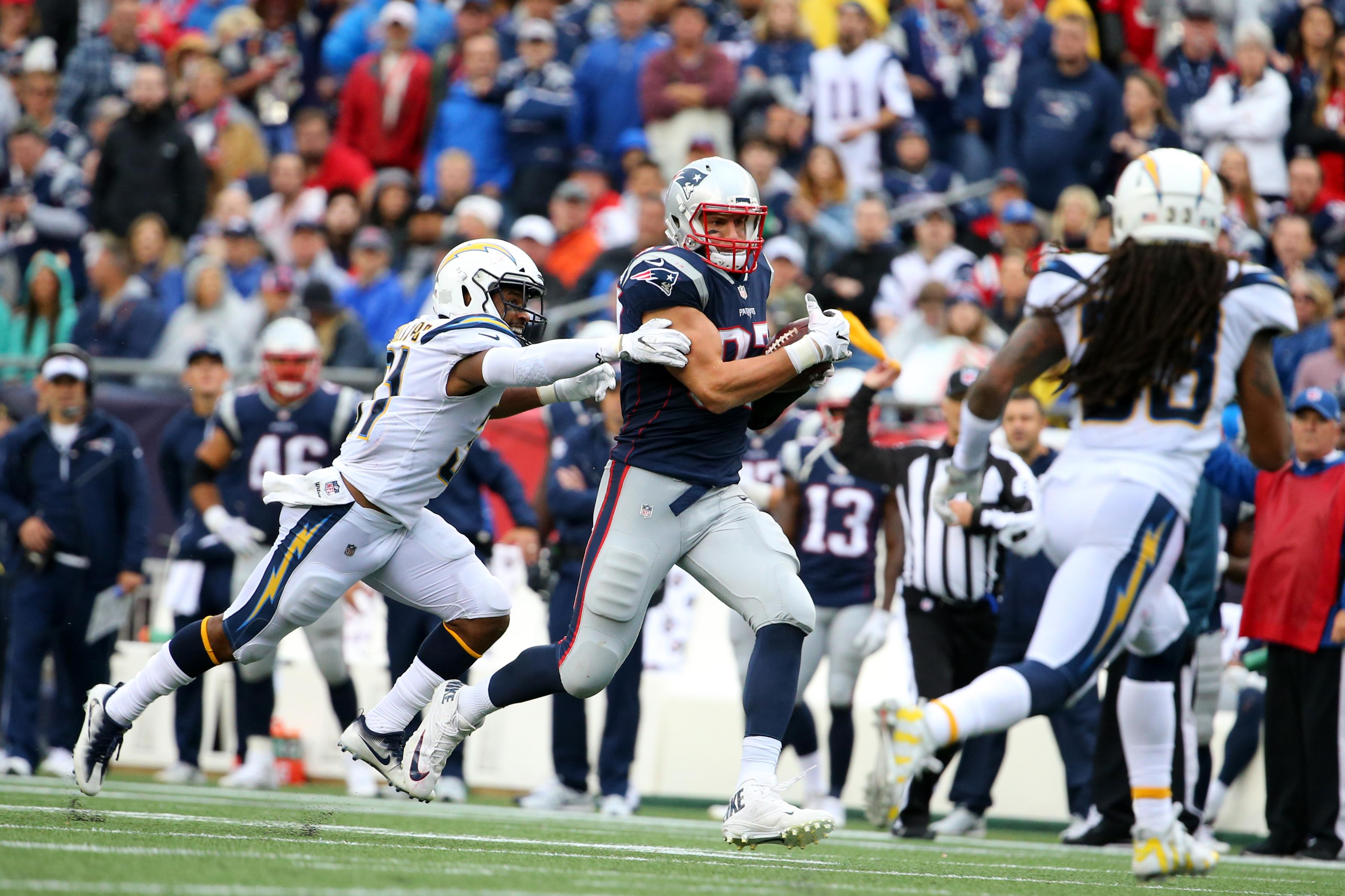 Rob Gronkowski Patriots Chargers