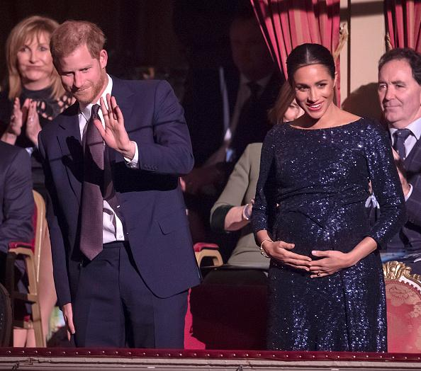 Meghan Markle's Baby Bump Steals The Show At National Theatre