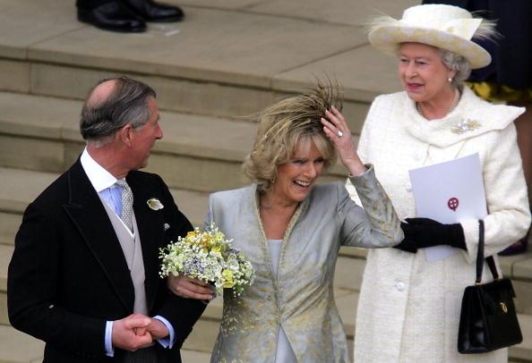 Queen Elizabeth II, Prince Charles and Camilla Parker Bowles