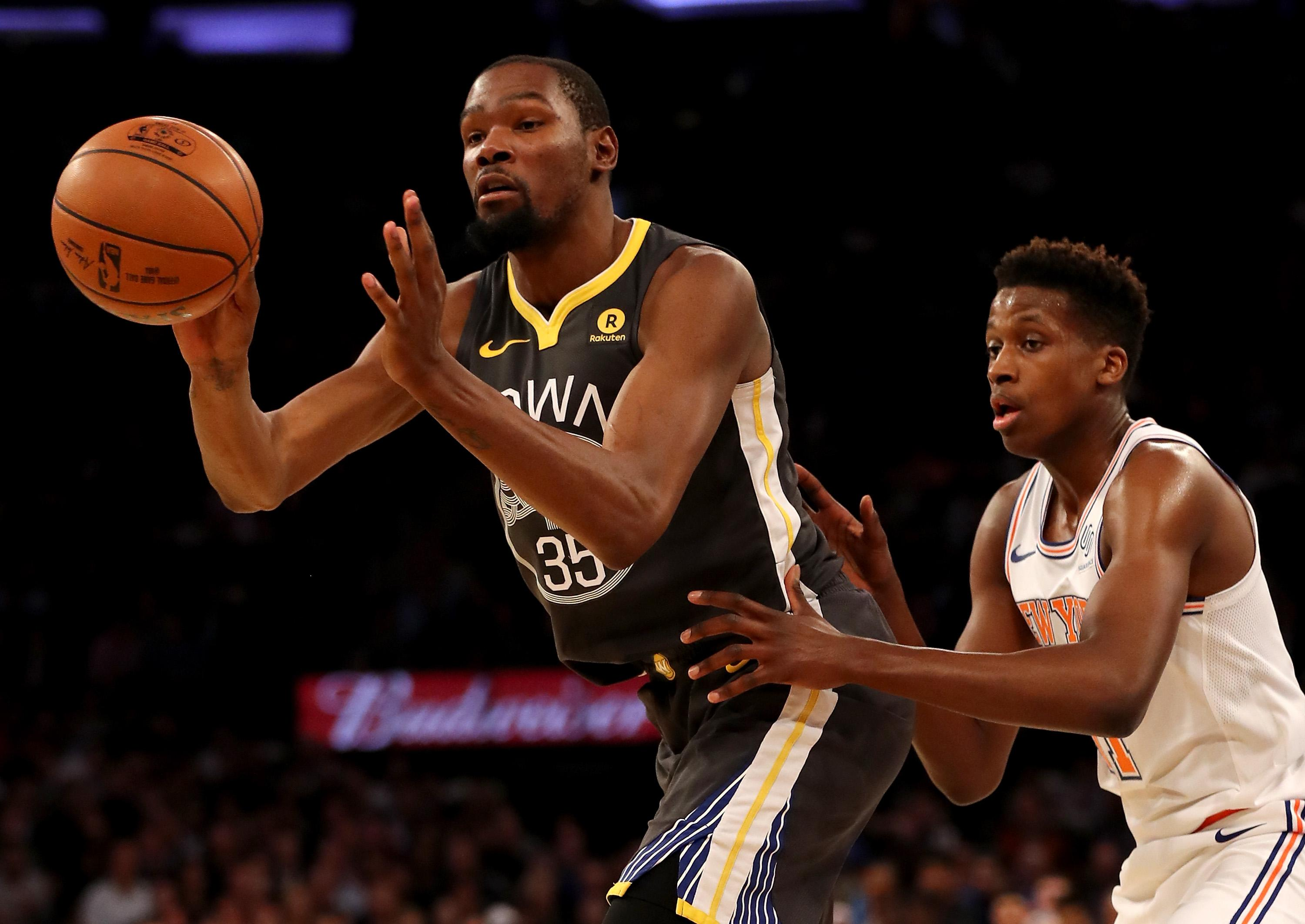 Kevin Durant Warriors Knicks