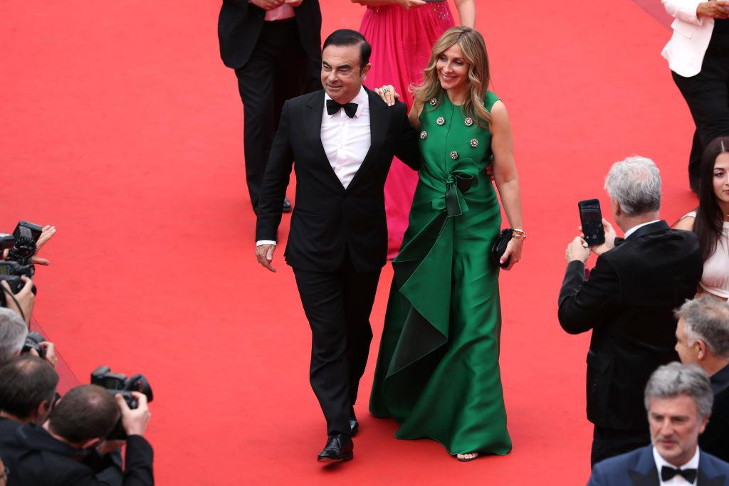 Carlos Ghosn and his wife, Carole