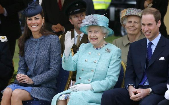 Kate Middleton, Queen Elizabeth II and Prince William