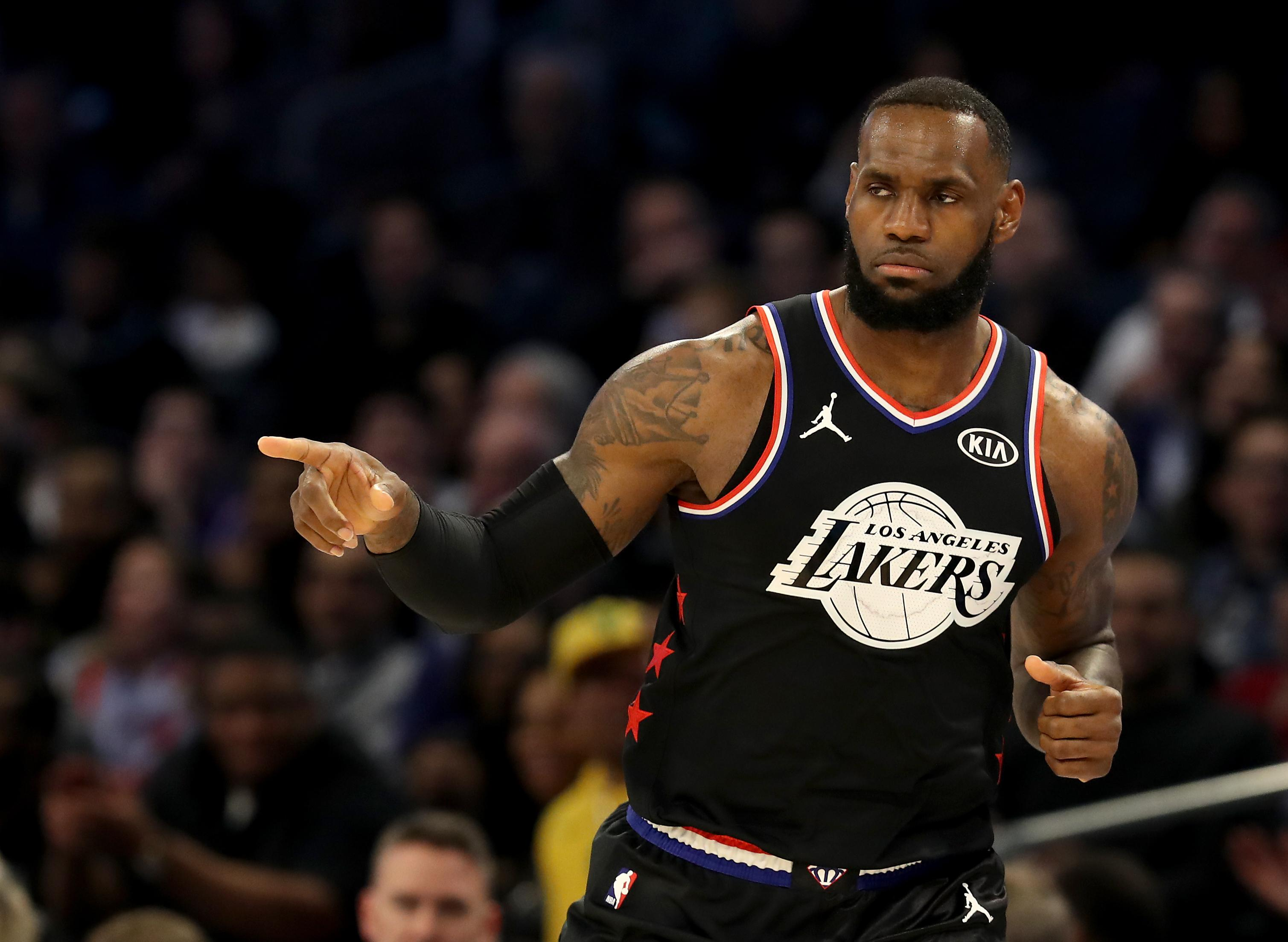LeBron James Lakers All-Star