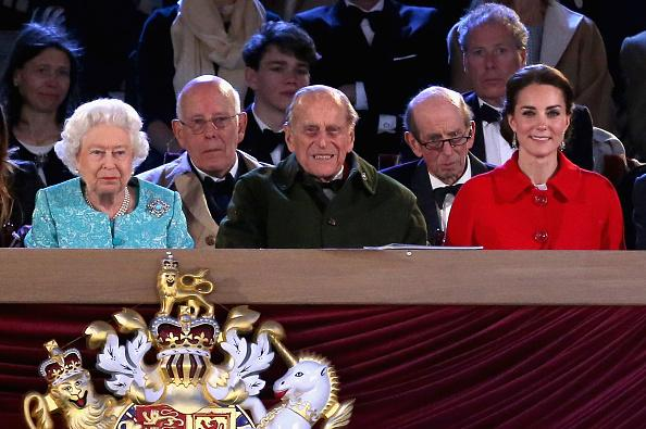 Queen Elizabeth II, Prince Philip and Kate Middleton