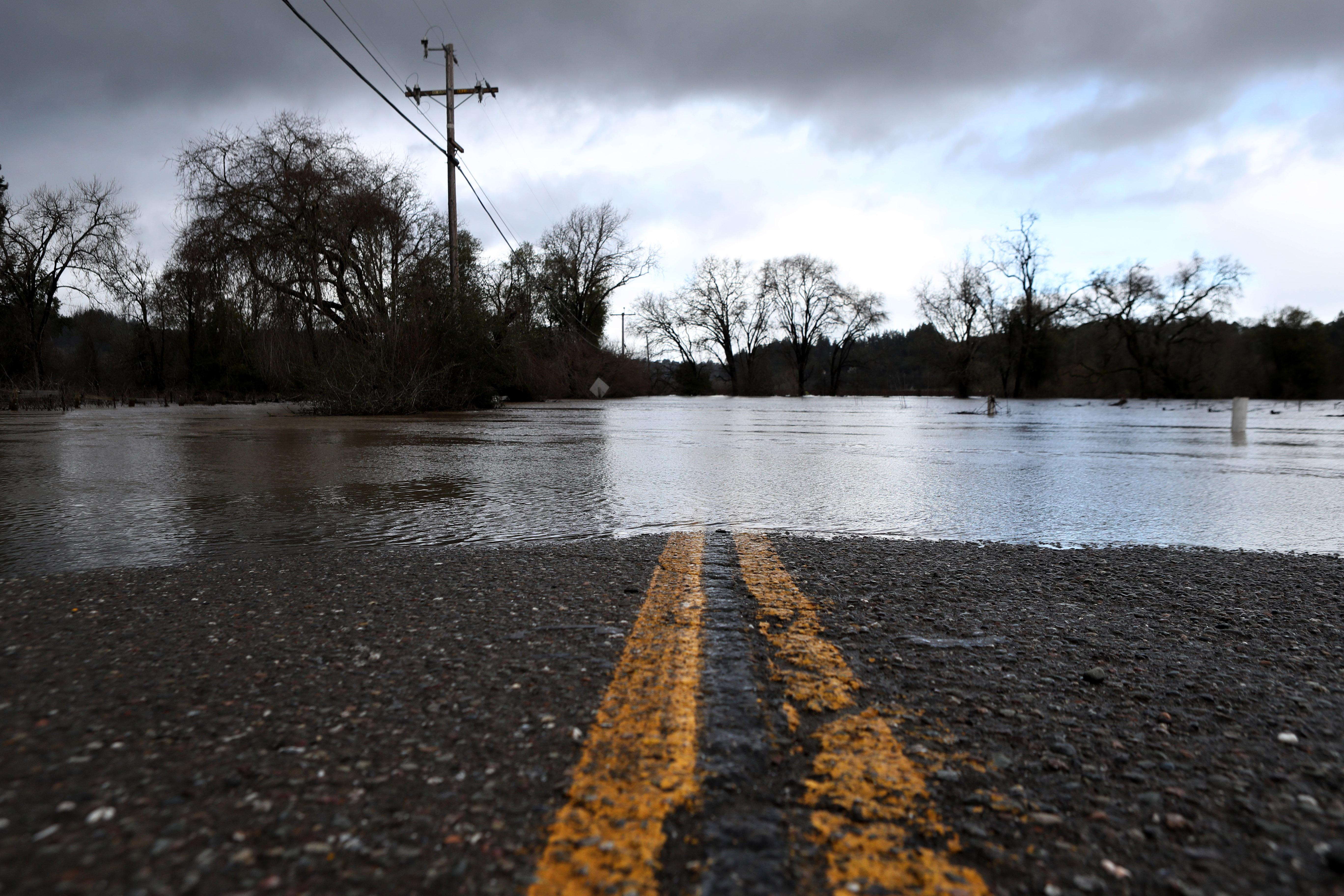 Floodwaters along Russian River