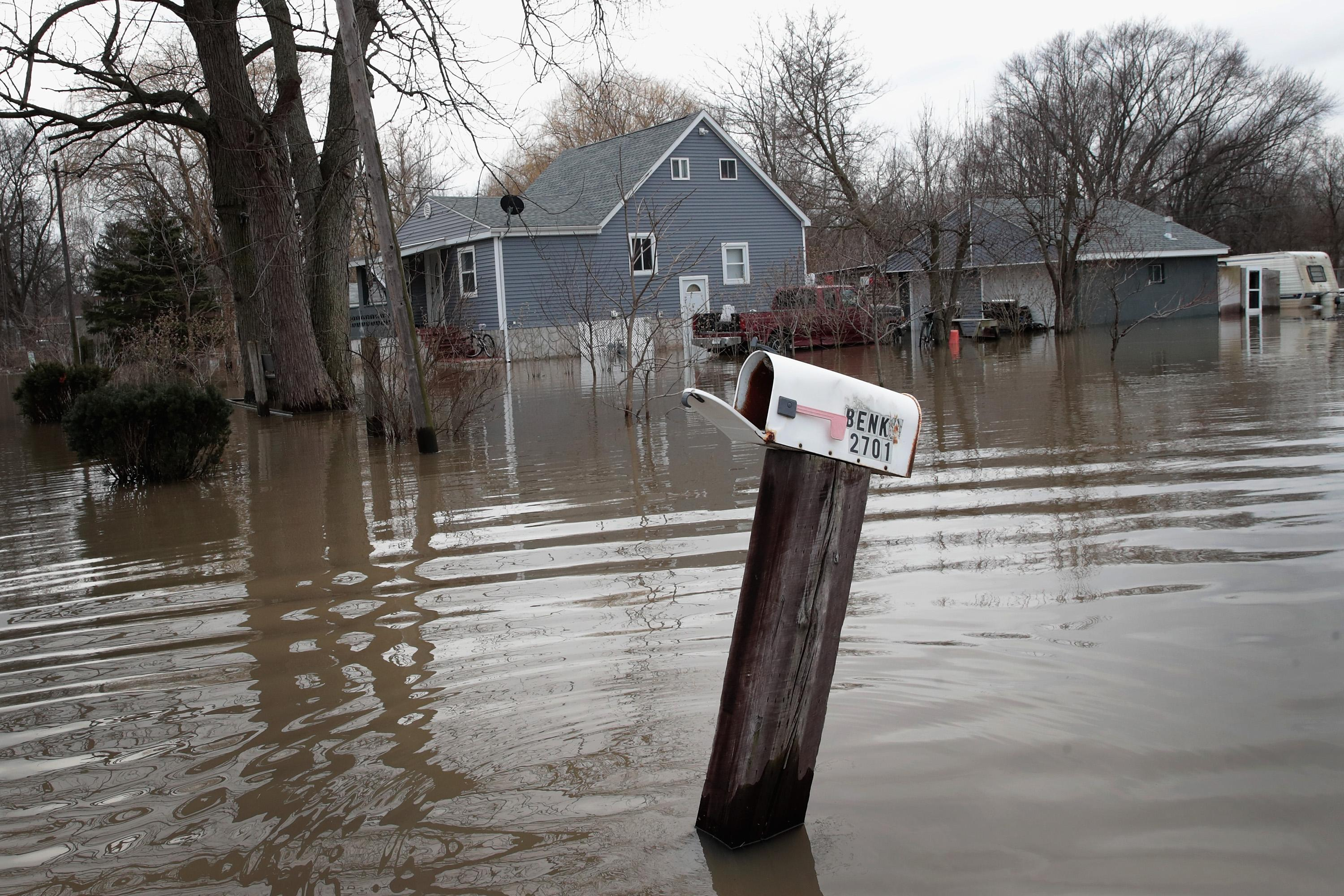 Flood in Indiana