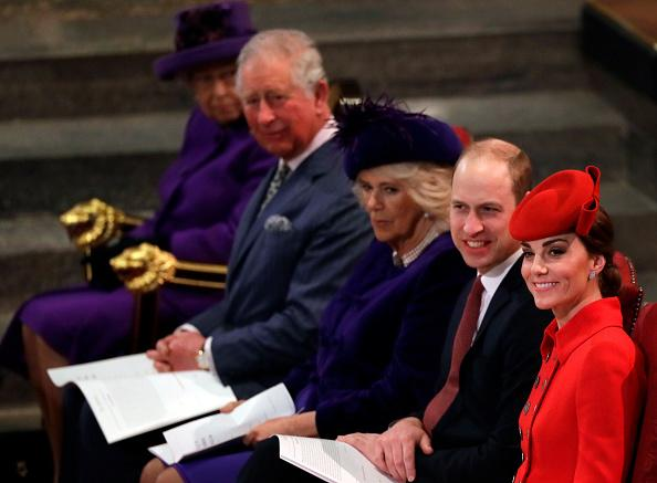 Prince Charles Camilla Parker Bowles Prince William Kate Middleton and Queen Elizabeth II