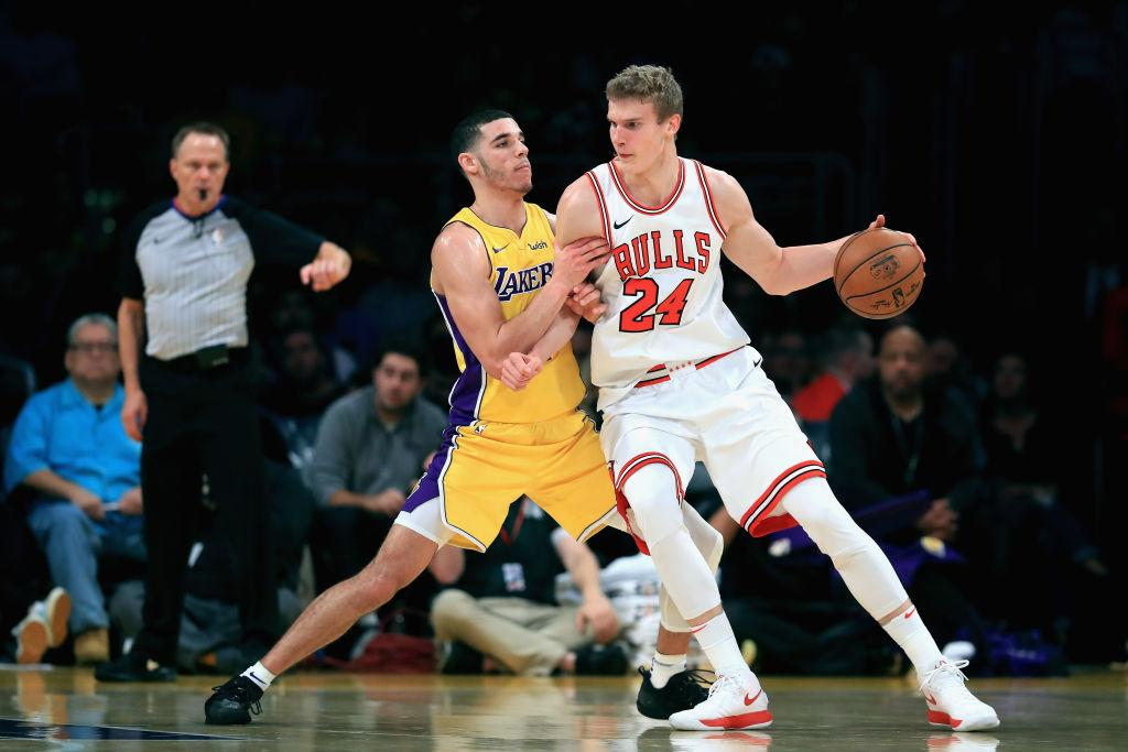 Lonzo Ball and Lauri Markkanen