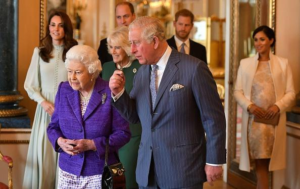 Queen Elizabeth II Prince Charles and other members of the royal family