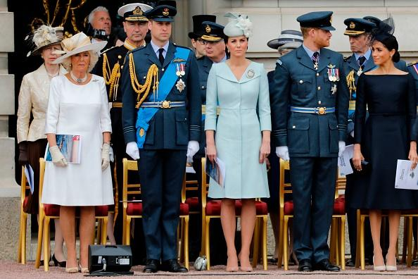 Kate Middleton, Camilla Parker Bowles and Meghan Markle