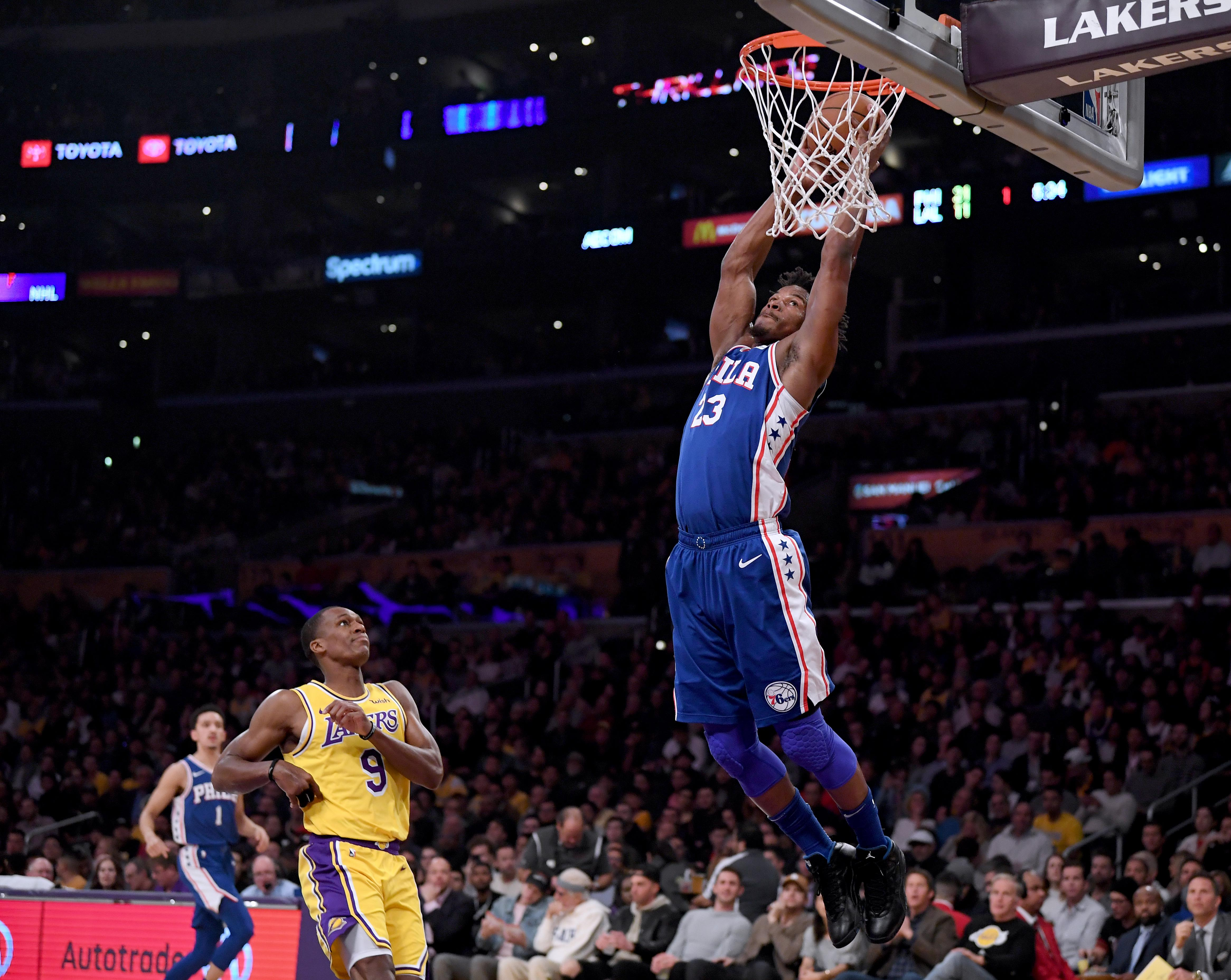 detailed pictures ca447 8848b NBA Rumors: Jimmy Butler Wears Purple And Gold Shoes ...