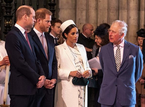 Princes William, Harry, Charles, Meghan Markle